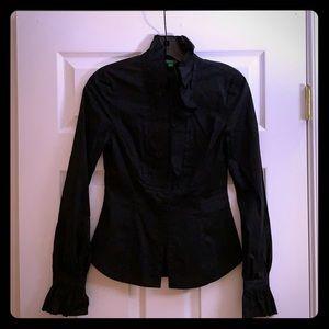 Long sleeve Black Button-up Dress Shirt